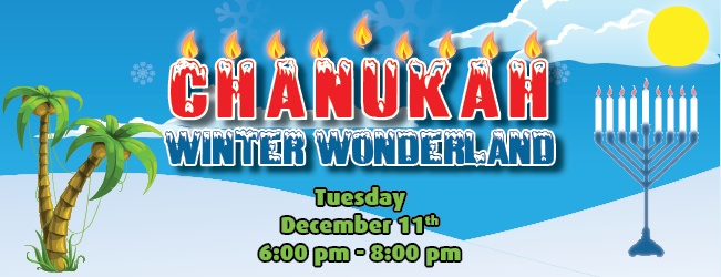 Chanukah in the Snow Winter Wonderland | Tuesday, Dec. 11 6-8 pm | Chabad of Uptown 4311 Bettis Drive