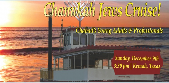 Hannukah Jews Cruise | Young Professionals Boat Ride from Kemah to Galveston Bay | Sunday, Dec. 9 3:30 pm